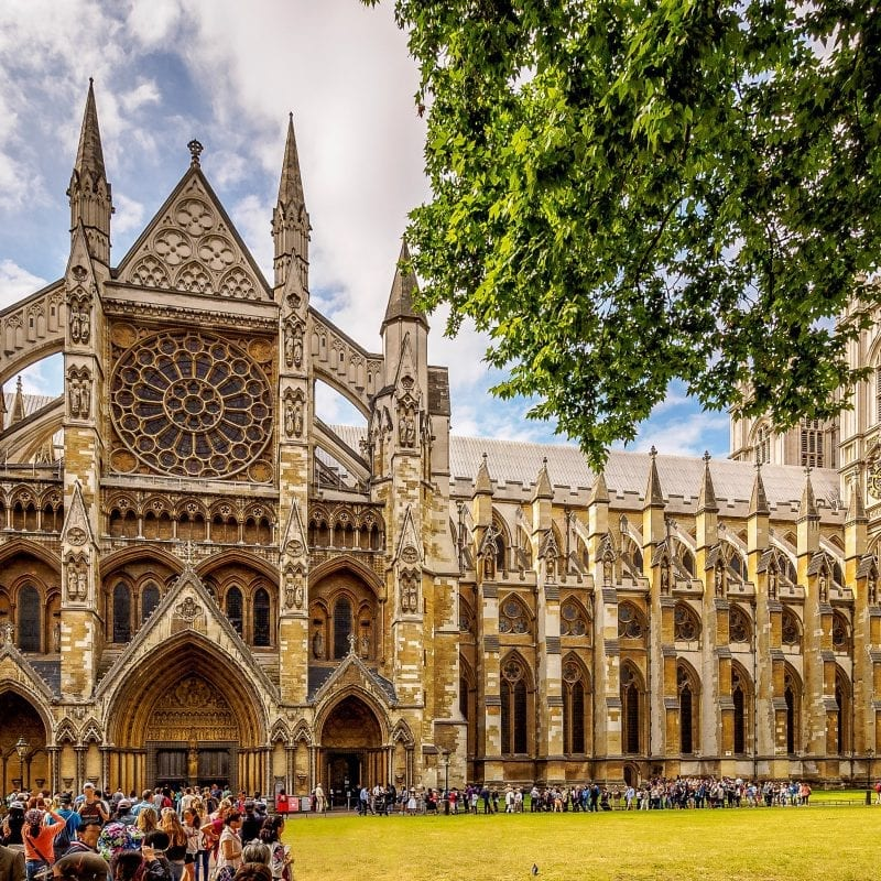 westminster abbey outside building